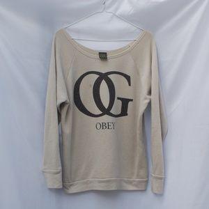 Obey | Tan OG Sweatshirt - M